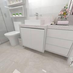 Projeto de Interiores A&V Banheiros clássicos por Rafaela Longhi Arquitetura e Interiores Clássico MDF