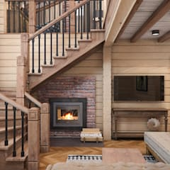 Living room by Проектно-строительная компания УралДеко
