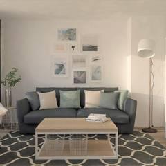 Departamento Gent : Salas de estilo  por B-HOUSE, Escandinavo