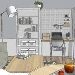 Departamento Gent : Estudios y oficinas de estilo  por B-HOUSE, Escandinavo