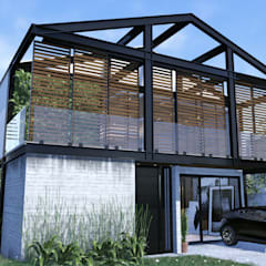 Conjunto residencial de estilo  por Gelker Ribeiro Arquitetura | Arquiteto Rio de Janeiro