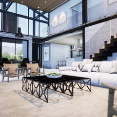 Projeto Casa em Estrutura Metálica | Casa SUEL | RJ: Salas de estar  por Gelker Ribeiro Arquitetura | Arquiteto Rio de Janeiro