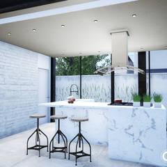 Projeto Casa em Estrutura Metálica | Casa SUEL | RJ por Gelker Ribeiro Arquitetura | Arquiteto Rio de Janeiro Industrial Cerâmica