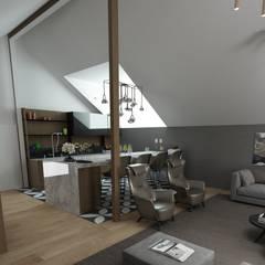 50GR Mimarlık – Küçükçekmece Çatı Katı :  tarz Yatak Odası