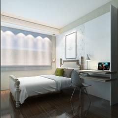 50GR Mimarlık – Küçükçekmece Misafir Odası:  tarz Yatak Odası