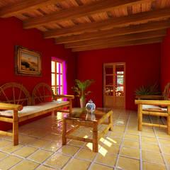 Casa Roja: Salas de estilo  por Arqternativa