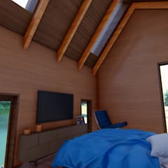 Dormitorios de estilo  por Ekeko arquitectura  - Coquimbo