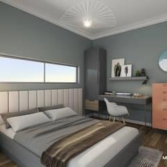 Monodesign İçmimarlık – URLA VİLLA:  tarz Yatak Odası