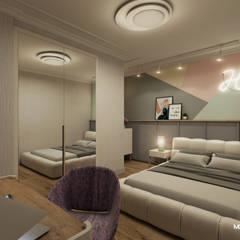 Monodesign İçmimarlık – GÜL SOKAK DAİRE:  tarz Yatak Odası