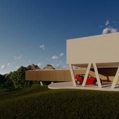 Casa do Alto: Casas do campo e fazendas  por Aoki Arquitetura