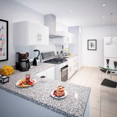 Muebles de cocinas de estilo  por STUDIO ZINKIN, Moderno