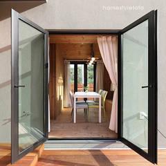 Balcón de estilo  por 주택설계전문 디자인그룹 홈스타일토토