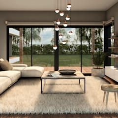 CASA AF: Livings de estilo  por MOD Arquitectura Ingeniería Construcción
