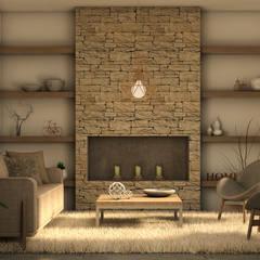Casa MM: Livings de estilo  por MOD Arquitectura Ingeniería Construcción