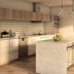 مطبخ ذو قطع مدمجة تنفيذ MOD Arquitectura Ingeniería Construcción