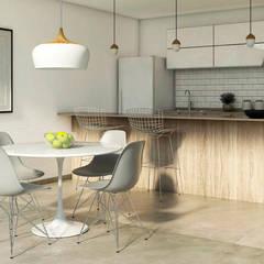 Cocina y comedor: Cocinas pequeñas de estilo  por MOD Arquitectura Ingeniería Construcción