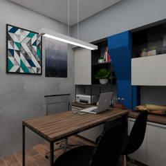 Study/office by B+ Arquitetura, Obras e Reformas, Industrial