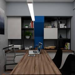 Escritórios e Espaços de trabalho  por B+ Arquitetura, Obras e Reformas, Industrial