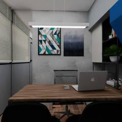 Oficinas de estilo  por B+ Arquitetura, Obras e Reformas