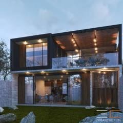 منزل عائلي صغير تنفيذ 3C Arquitectos S.A. de C.V., حداثي