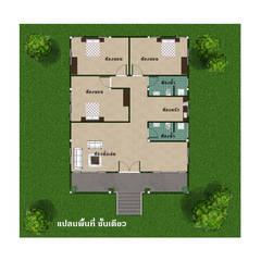 บ้านจำลอง 3D:  บ้านและที่อยู่อาศัย โดย บริษัท พี นัมเบอร์วัน ดีไซน์ แอนด์ คอนสตรัคชั่น จำกัด, ผสมผสาน