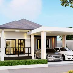บ้านจำลอง 3D อ.พระสมุทรเจดีย์:  บ้านและที่อยู่อาศัย by บริษัท พี นัมเบอร์วัน ดีไซน์ แอนด์ คอนสตรัคชั่น จำกัด