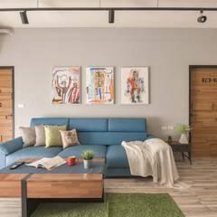 Salas / recibidores de estilo  por 澄月室內設計