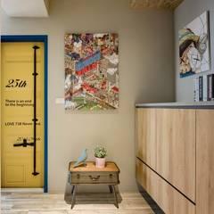 اتاق نشیمن توسط澄月室內設計, صنعتی