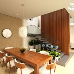 Comedor Casa / Saldaña - Tolima _ Colombia : Comedores de estilo  por Taller 3M Arquitectura & Construcción