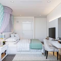 Thiết kế nội thất hiện đại tại căn hộ Landmark 4 - Khu đô thị Vinhomes Central Park:  Phòng trẻ em by ICON INTERIOR,