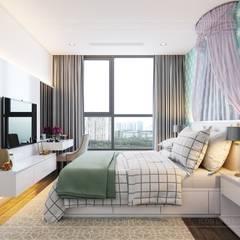 Thiết kế nội thất hiện đại tại căn hộ Landmark 4 - Khu đô thị Vinhomes Central Park:  Phòng trẻ em by ICON INTERIOR