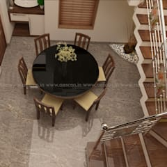 :  Dining room by Aescon Builders and Architects,Asian