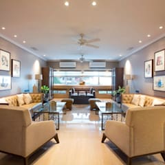 3 BHK, MALABAR HILL:  Living room by Finelines Designers Private Limited