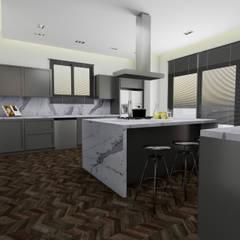 AE Interıor Archıtecture – Mutfak Projesi - Çerçiler İnşaat:  tarz Ankastre mutfaklar