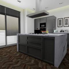 AE Interıor Archıtecture – Mutfak Projesi - Çerçiler İnşaat:  tarz Mutfak üniteleri