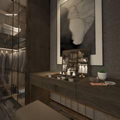 Derya Malkoç İç Mimarlık – GİYİNME ODASI:  tarz Giyinme Odası