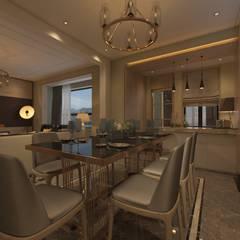 Derya Malkoç İç Mimarlık – OTURMA ALANI:  tarz Yemek Odası