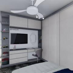 Cuartos pequeños de estilo  por NV Arquitetura e Urbanismo