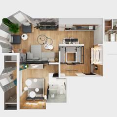 Квартира в г. Москве, Садовые Кварталы: Стены в . Автор – Дизайн Студия 33