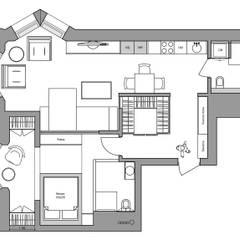 Планировка: Стены в . Автор – Дизайн Студия 33