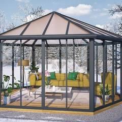 Ogrody zimowe: styl , w kategorii Ogród zimowy zaprojektowany przez Ogrodosfera