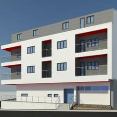 Fachada Direita: Condomínios  por jpg.p Arquiteto