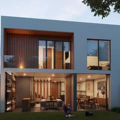منزل عائلي صغير تنفيذ Stuen Arquitectos , حداثي خشب Wood effect