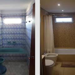 Departamento Lamarca: Baños de estilo  por D4-Arquitectos,Moderno Cerámico