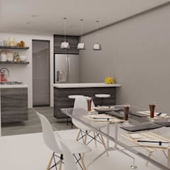 Casa Morales: Muebles de cocinas de estilo  por MT-GI STRATEGIC SERVICES , Moderno Madera Acabado en madera