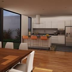 Casa Agave: Muebles de cocinas de estilo  por MT-GI STRATEGIC SERVICES