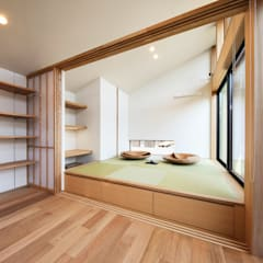 Salas multimedia de estilo  por STaD(株式会社鈴木貴博建築設計事務所)