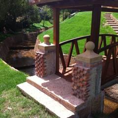 Casa 14: Jardines de estilo  por cesar sierra daza Arquitecto