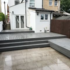 Multi Level:  Terrace by Browns Landscape and Decking Ltd