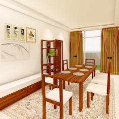 3 BHK For An NRI Client At Hyderabad India Dining Room By Aikaa Designs